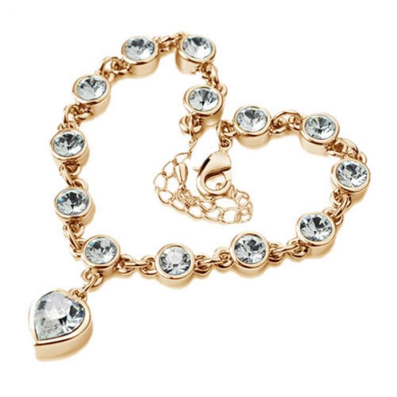 armband damen armband gold anh nger herz kette zirkonia. Black Bedroom Furniture Sets. Home Design Ideas