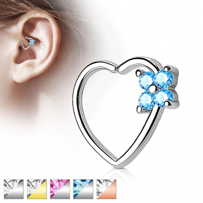 Captive Bead Ring - Septum Closure Blume Piercing Herz Helix Tragus Z