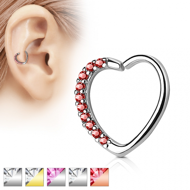 Captive Bead Ring - Septum Closure Ring Piercing Herz Helix Tragus Zi