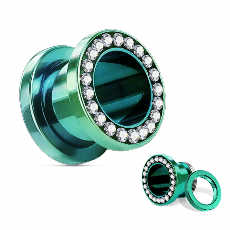 flesh tunnel ohr plug piercing gr e und farbe w hl. Black Bedroom Furniture Sets. Home Design Ideas