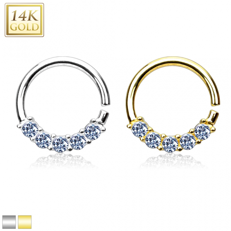 septum piercing ring nasenring zirkonia 585er echt gold echt schmuc. Black Bedroom Furniture Sets. Home Design Ideas