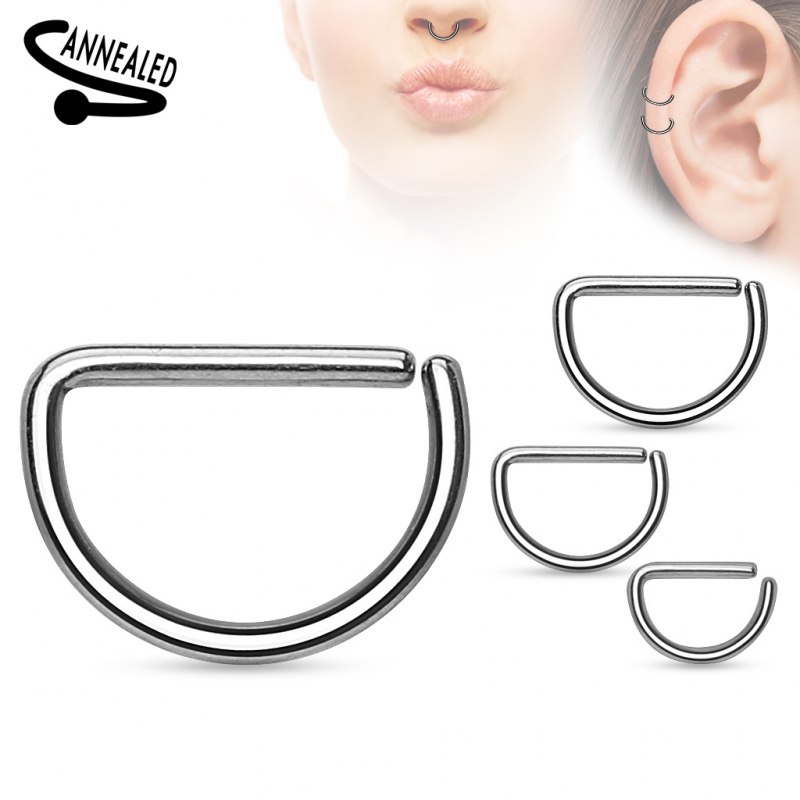 septumring septum clicker ring piercing tragus helix silber d form. Black Bedroom Furniture Sets. Home Design Ideas
