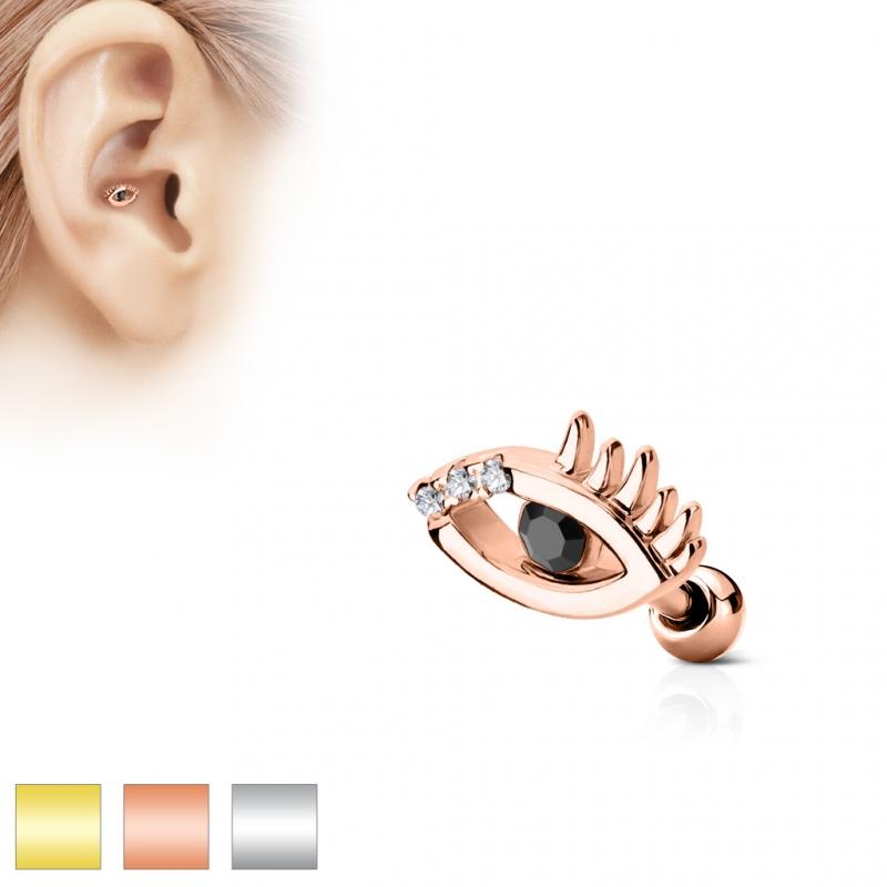 tragus piercing 6mm evil eye allsehendes auge stecker. Black Bedroom Furniture Sets. Home Design Ideas