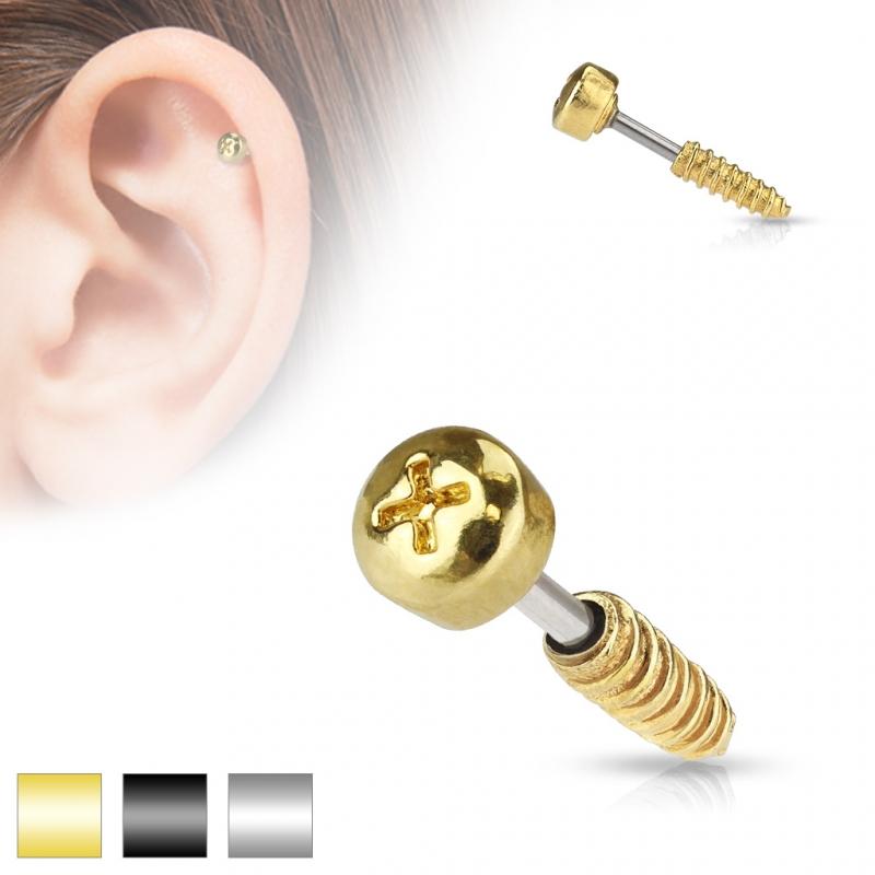 tragus piercing 6mm schraube screw stecker helix. Black Bedroom Furniture Sets. Home Design Ideas