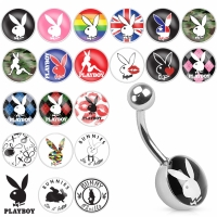 Bauchnabelpiercing - Playboy Piercing 10 mm Motiv...