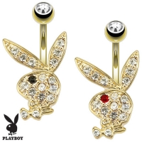 Bauchnabelpiercing - Playboy Piercing 10mm  Zirkonia...