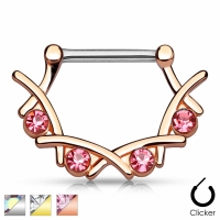 Brustwarzenpiercing - Brustpiercing Piercing Zirkonia...