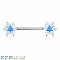 Brustwarzenpiercing - Nippelpiercing Opalite Piercing...