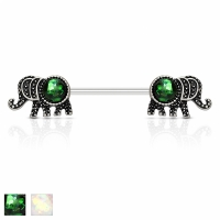 Brustwarzenpiercing - Piercing Elefant Brustpiercing Opal...