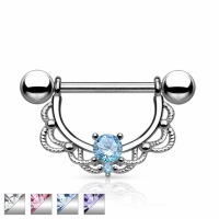 Brustwarzenpiercing - Vintage Silber Brustpiercing...