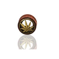 Flesh Tunnel - Hanf Cannabis Plug Knochen Organic Holz...