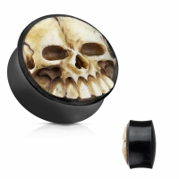 Flesh Tunnel - Plug Organic Totenkopf Knochen Ohrring...