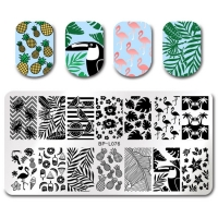 Nail Art Stamping Schablone - Große Nail Platte...