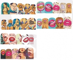 Nail Art Sticker - Nailart Frau Comic Sexy Nagelsticker...