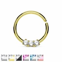 Nasenpiercing - 10mm Nasenring Septum Piercing Ring...