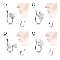 Nasenpiercing - Nasenstecker Fake Piercing Ring Nasen...
