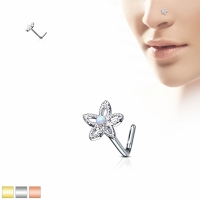 Nasenpiercing - Nasenstecker Stud Blume Piercing Stecker...