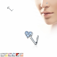 Nasenpiercing - Nasenstecker Stud Piercing Herz Heart...