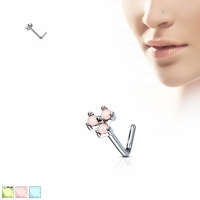 Nasenpiercing - Nasenstecker Triangel Stud Piercing Opal...