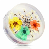 Plug - Blume Acryl Flesh Tunnel Ohrring Piercing...