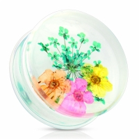 Plug - Blume Piercing Acryl Flesh Tunnel Ohrpiercing...