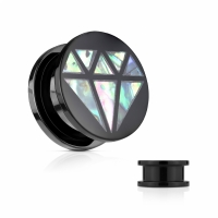 Plug - Diamant SCREW FIT Flesh Tunnel Acryl Piercing...