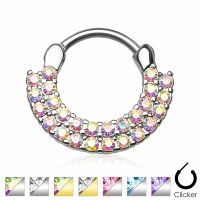Septum Clicker - Fan Piercing Ring Nasenring Schild...