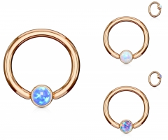 Septum Piercing - Captive Bead Ring Opal Piercing Tragus...