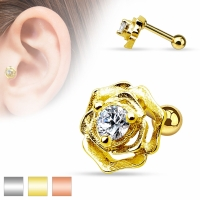 Tragus Piercing - Rose Zirkonia Piercing 6mm...