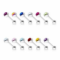 Zungenpiercing - Hantel Piercing 1,6mm 16mm Ferido...