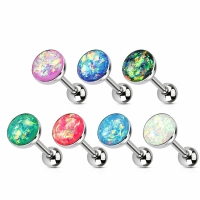 Zungenpiercing - Piercing 16mm Zunge Stab Opal...