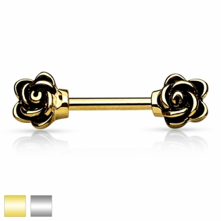 Brustwarzenpiercing - Brustpiercing Piercing 10mm Rose Anhänger #250