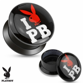Flesh Tunnel - Playboy Plug Acryl Ohrring Ohrpiercing Piercing Gewinde #329