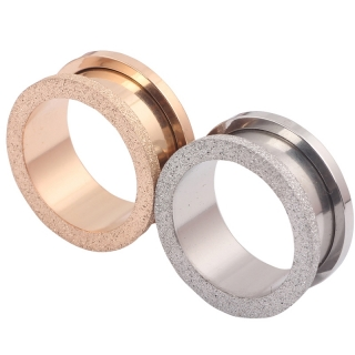 Flesh Tunnel - Rosegold vergoldet Plug Glitter Glitzer SCREW FIT Piercing