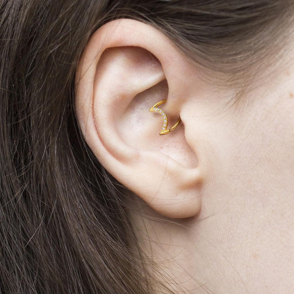 Closure Daith Septum Piercing V Shape Tragus Cartilage #656 Captive Bead Ring