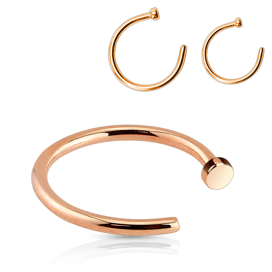 Nasenpiercing - Nasenring Rose Gold 8mm / 10mm Stecker Ring Nase Piercing #240