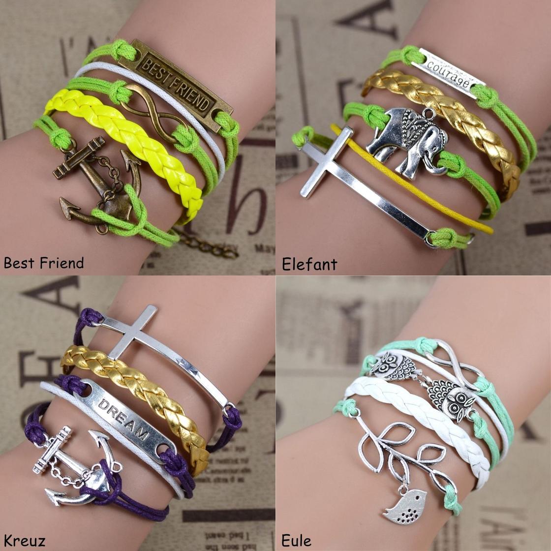 Armband Eule Freundschaft Armbänder