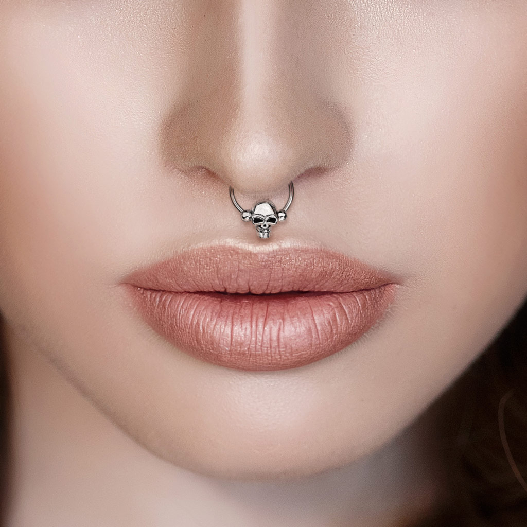 how to put in a captive ring septum