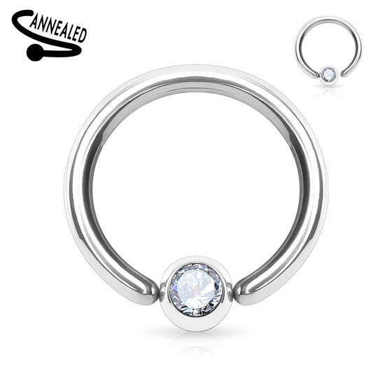 Captive Bead Ring - Septum Piercing Brustwarze Tragus Helix Silber Closure #342