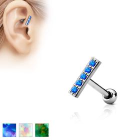 Tragus Helix Lippe Monroe Opal Piercing 8mm Stecker #273 Labret Stud
