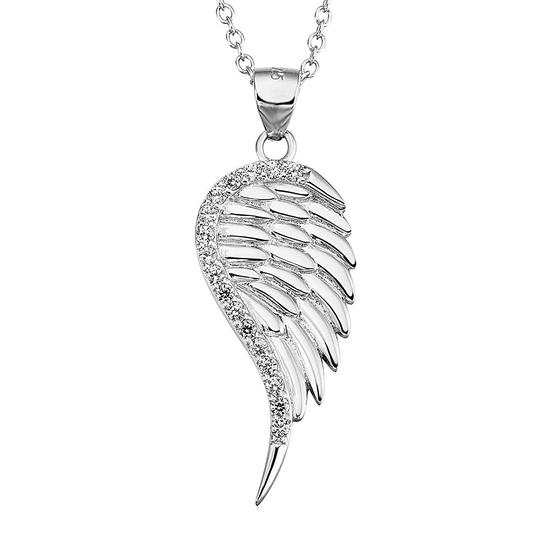 Damenkette Anhänger Halskette Herz Schwarz Zirkonia 925 Sterling Silber #B2