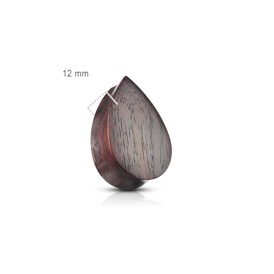 Plug - Natural Wood Flesh Tunnel Holz Tropfen Piercing Ohrpiercing Double Flared